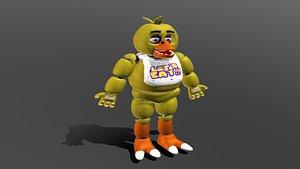 3D fnaf 1 chica