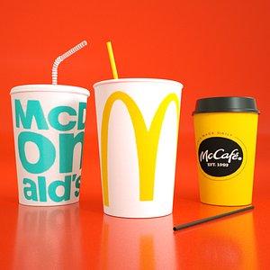 3D cup mc donalds model