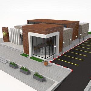 3D Supermarket Retail Store model