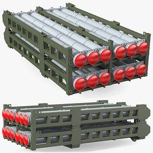 3D missile launcher 50r6 s model