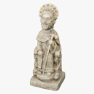 Apostle Santiago figurine 3D