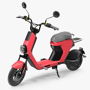 Electric Moped Rigged 3D model