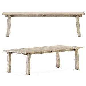 3D teaka table wood
