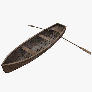 3D model rowboat row boat