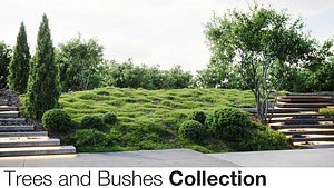 3D Trees And Bushes Collection