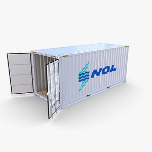 3D 20ft Shipping Container NOL
