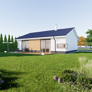 Bungalow 2 - Created with fully parametric Revit Families 3D