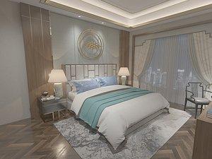 3D Bedroom postmodern bedroom master bedroom contracted bedroom luxury bedroom European style bedroom b model