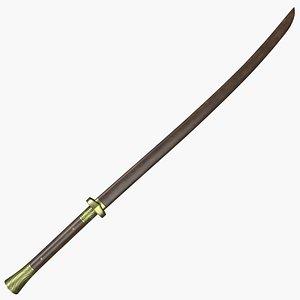 dao sword 3D model