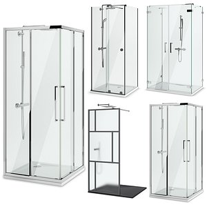 Showers Radaway, West One Bathrooms and Ideal set 125 3D model