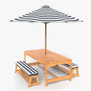 patio table set 3D model