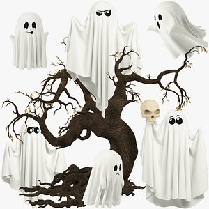3D Funny Ghosts Collection V7