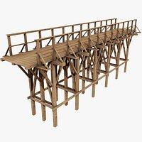 Wooden Bridge 3 with Pbr 4K