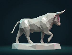 bull sculpture 3D model
