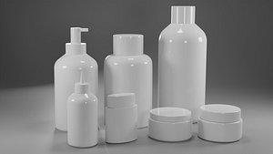 3D Cosmetic bottles