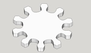 Gear wheel 10 teeth 10cm model
