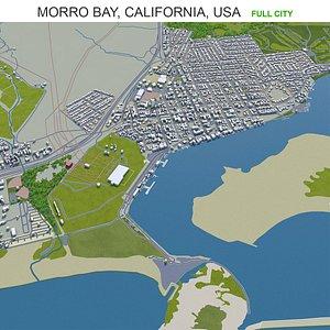3D Morro Bay California USA