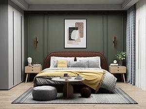 3D Modern Style Bedroom - 528