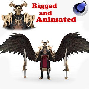 3D model Demon Man Rigged and Animated