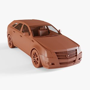 cadillac cts sport wagon 3D model