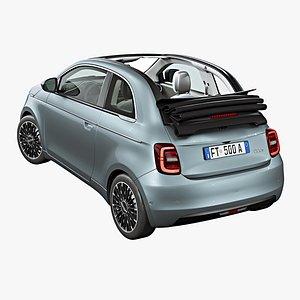 2021 Fiat 500 Cabrio 3D model