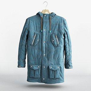 3D jacket coat clothing model