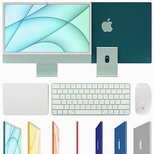 Apple iMac 24  2021 3D model