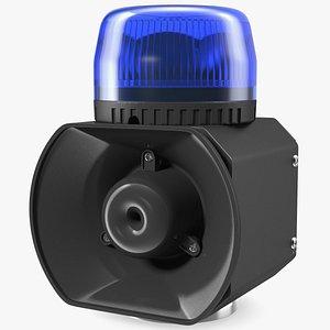 3D magnetic emergency siren beacon