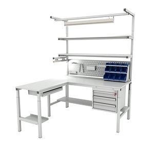 corner working table model