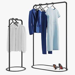 3D women s clothes hangers model