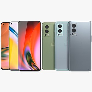 3D OnePlus Nord 2 5G All Colors model
