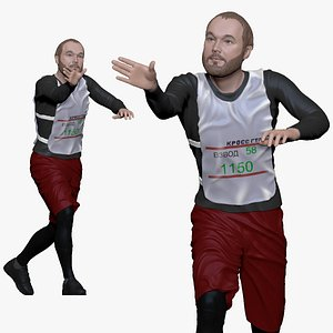 001180 bearded runner 3D model