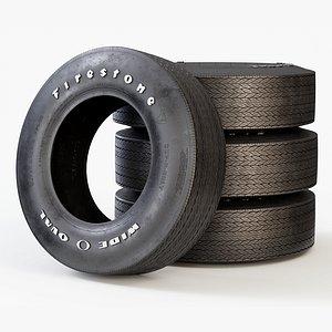 tyre classic car 3D model