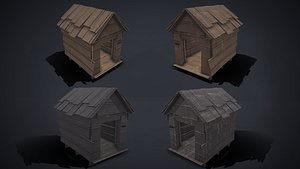 dog house - junkyard 3D model
