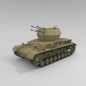 flakpanzer iv wirbelwind 3D model