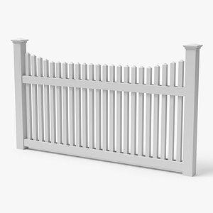 wooden fence obj