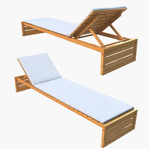 sun lounger lounge 3D model