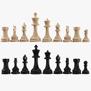 Chessmen Collection 3D model