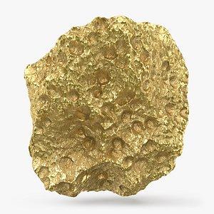 3D Gold Nugget 02