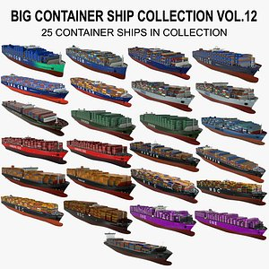 3D BIG Container Ship Collection Vol.12 model
