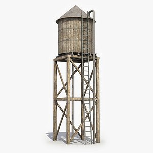Water Tower 6 3D Model 3D model