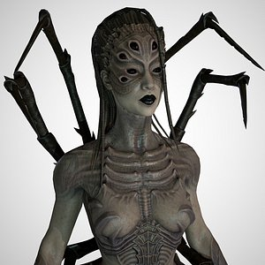 spider woman monster character 3D model