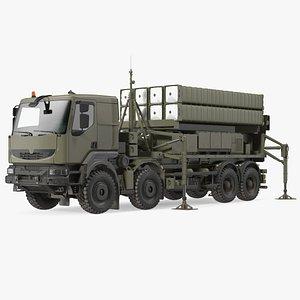 Mobile Medium Range Air Defense Missile System 3D model