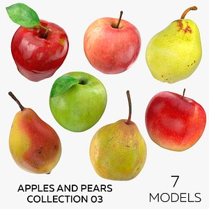 3D Apples and Pears 03 Collection - 7 models model