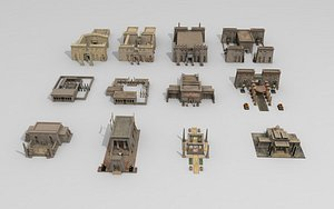 3D Egypt Building Pack model