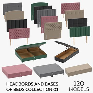 Headboards and Bases of Beds Collection 01 3D model