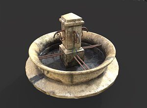 3D model Stone Public Fountain
