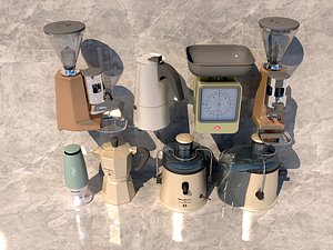 3D Soybean milk machine coffee machine electric kettle  electric rice cooker electronic scale juicer model