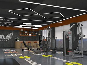 3D Gym exercise body exercise fitness equipment MeiTie equipment area treadmill