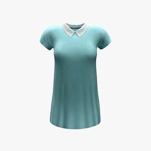 Peter Pan Collar Shift Dress model